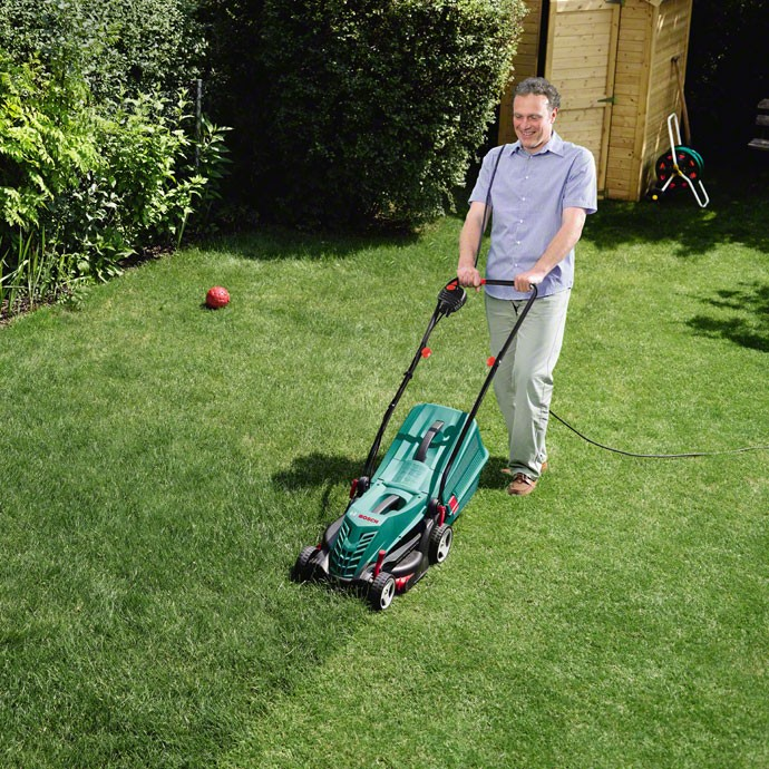 bosch green rotak 34 r corded electric rotary lawn mower. Black Bedroom Furniture Sets. Home Design Ideas