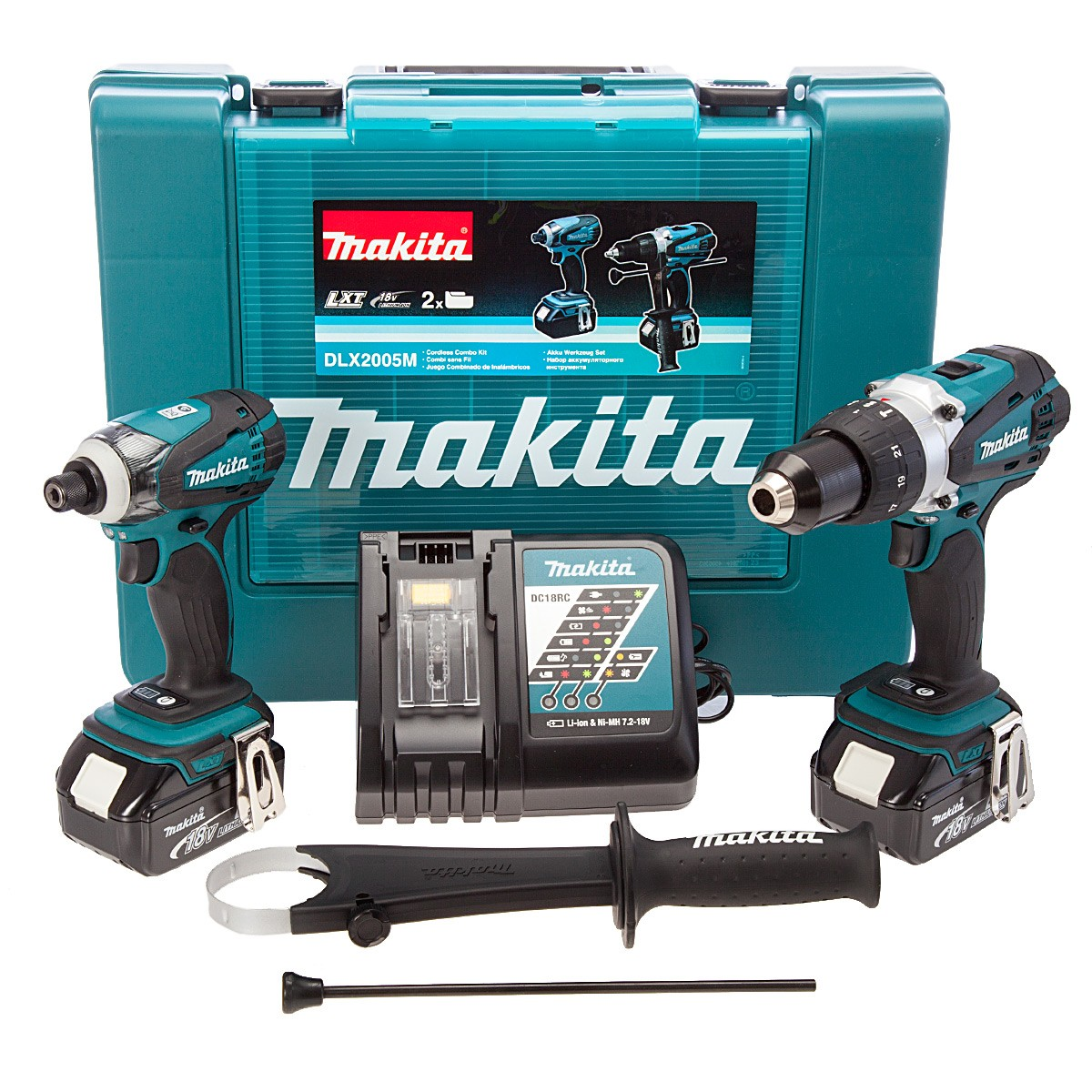 makita dlx2005m 18v cordless kit combi driver powertool. Black Bedroom Furniture Sets. Home Design Ideas