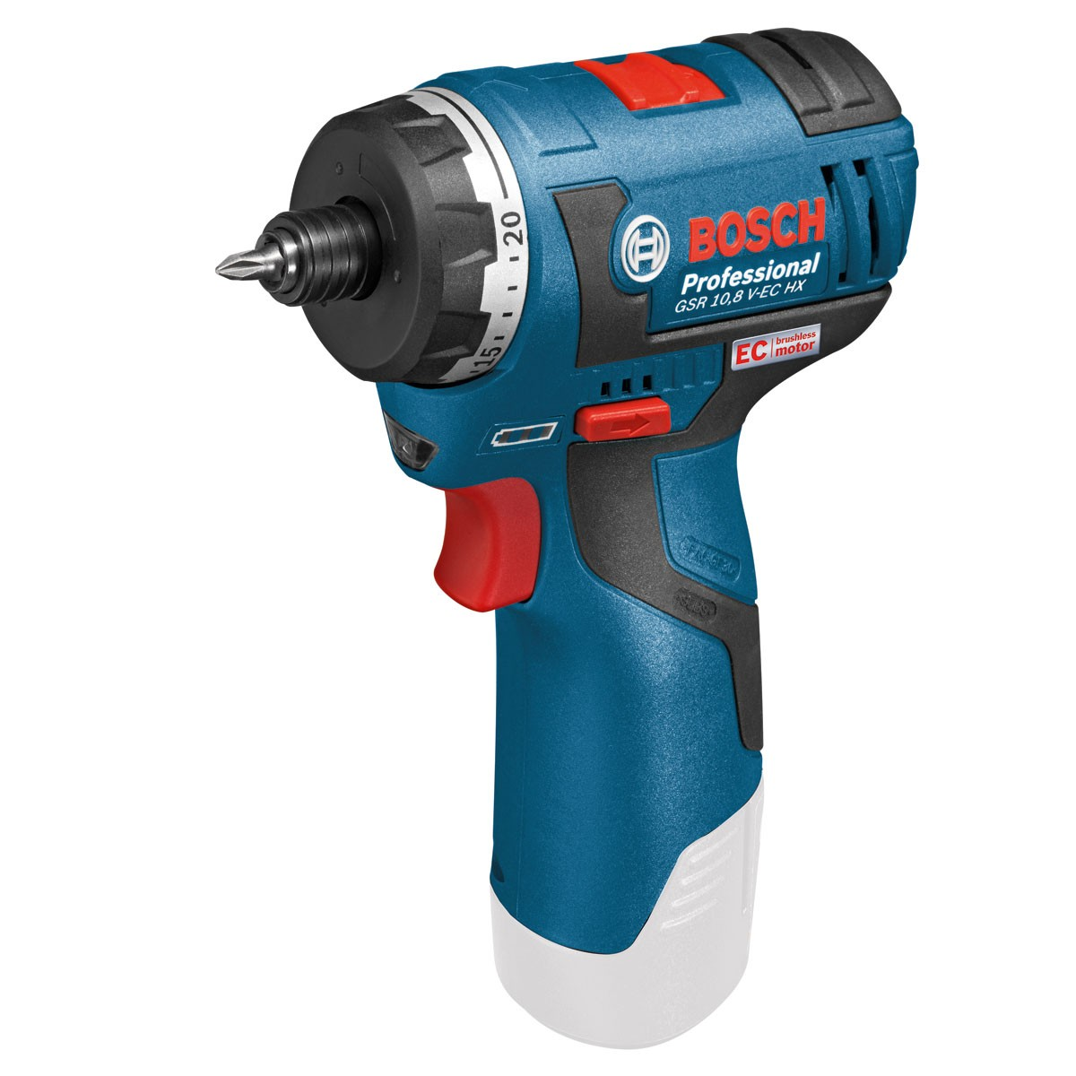 bosch gsr 10 8 v ec hx professional cordless hex screwdriver body only powertool world. Black Bedroom Furniture Sets. Home Design Ideas