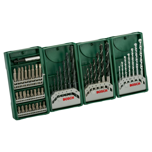 Genoeg Bosch Mini-X-Line 4 Pack Drill Bits and Driver Bits 2607017071 UM15