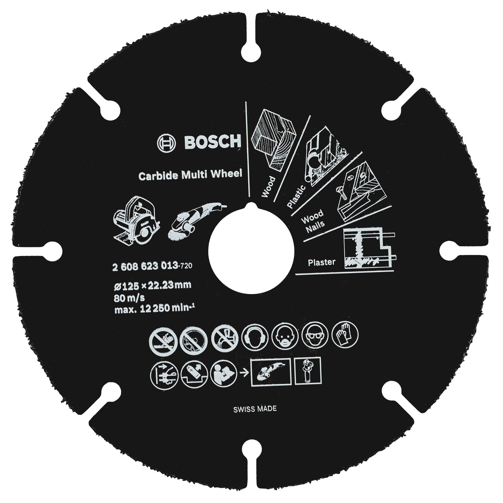 Bosch Multi Wheel Carbide Cutting Grinder Disc 125mm 2608623013 Cordless Angle Metabo W18 Ltx 125