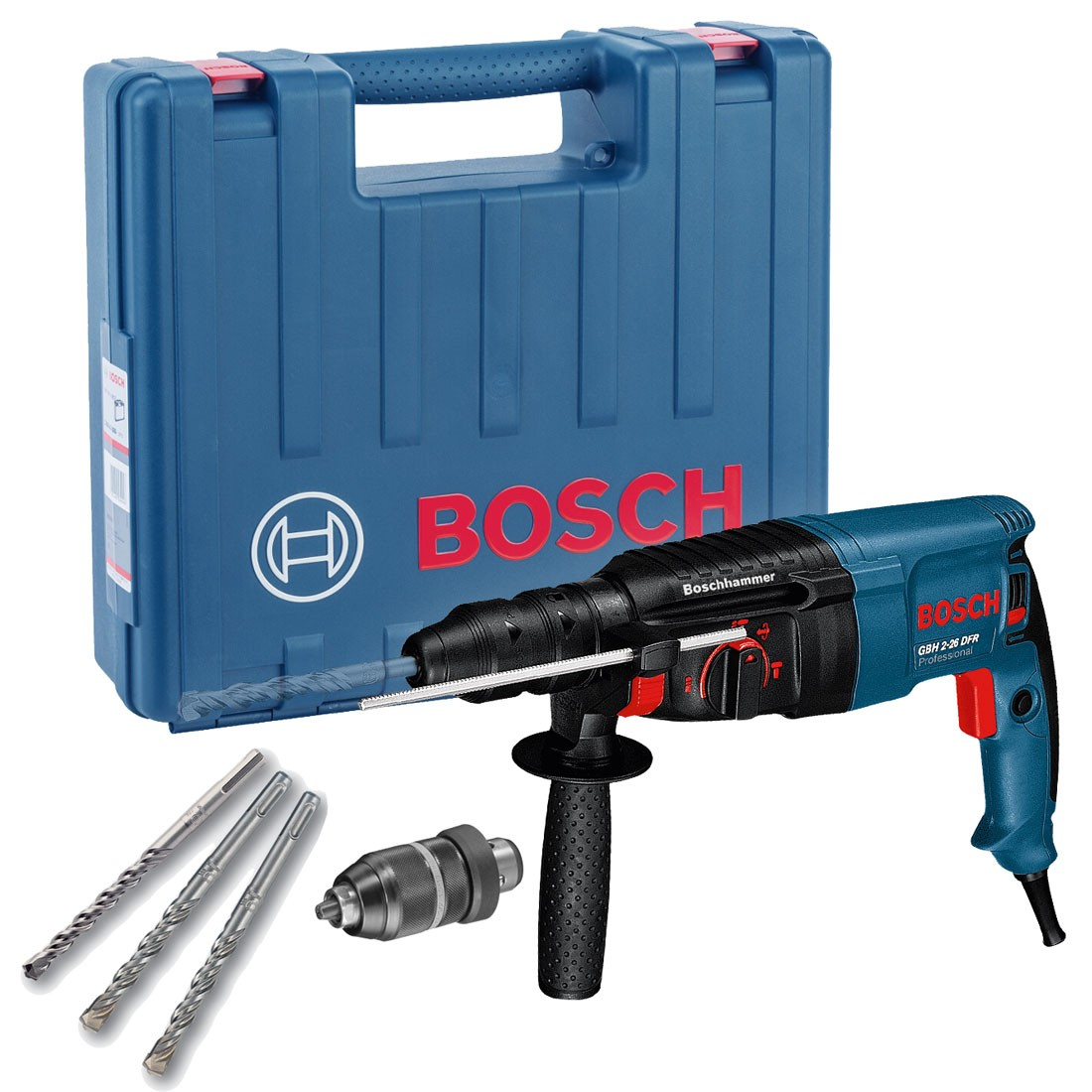 00459e4fd605 Bosch GBH 2-26 DFR SDS+ Plus Rotary Hammer Drill in Carry Case with QCC