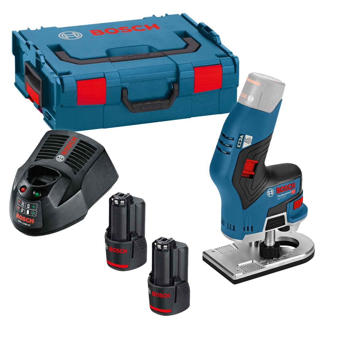 bosch gkf 12v-8 brushless cordless compact router trimmer inc 2x 3.0