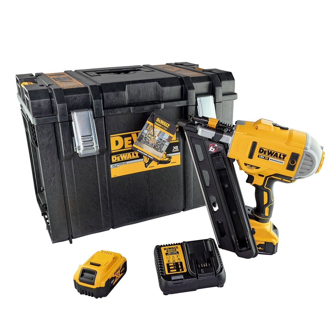 Dewalt DCN692N 18V XR Brushless 90mm First Fix Nailer with 1 x 5Ah Battery Charger /& DS400 Case