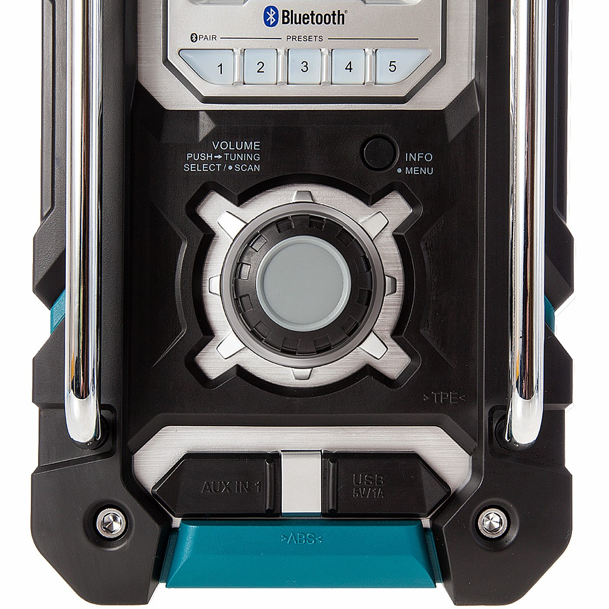 Makita DMR106 Bluetooth Jobsite Radio With USB Charging Port /& 2 x BL1830 Batteries /& DC18RC Charger