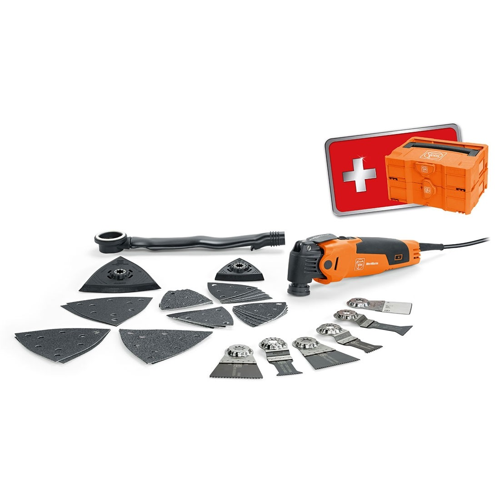 Fein FMM350QSL Multitool Starlock Model 5 x Wood//Metal Blades In Case 240volt