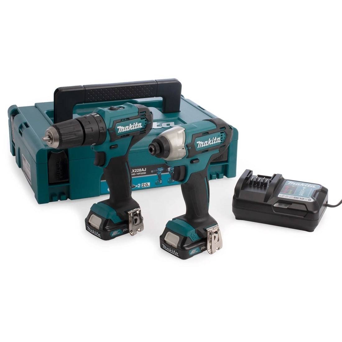 Makita 10.8v Drill Driver /& Impact Twin Pack With 2 x 2.0Ah Batt and Carry Case
