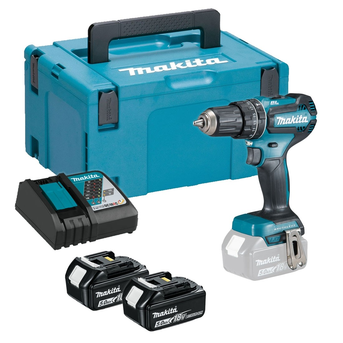 Makita DHP485RTJ 18v LXT Brushless Combi Drill inc 2x 5 0Ah Batts