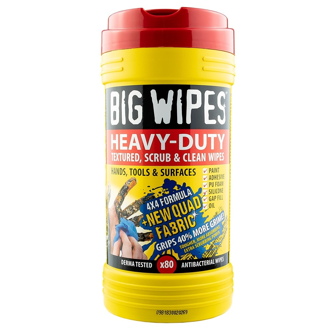 Big Wipes Industrial Antibacterial Scrub Heavy Duty Hand Cleaning Wipes Pack of 1