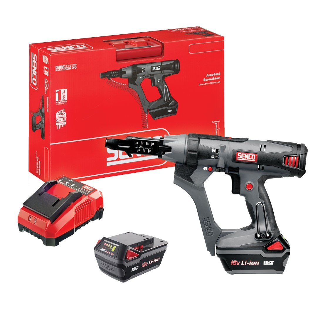 Senco Duraspin DS5550-18V Cordless Li-Ion Drywall Screwdriver