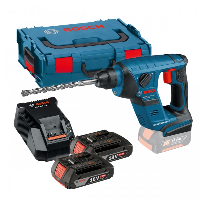 bosch gbh 18 v licp compact professional sds plus rotary hammer body only in l boxx 0611905304. Black Bedroom Furniture Sets. Home Design Ideas