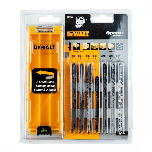 Dewalt Dt2296 Qz X10 Pc Xpc Wood Cutting Jigsaw Blade Set